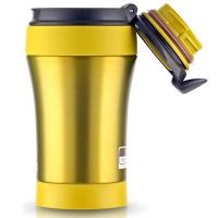 Термокружка THERMOS JND LMG (тепло 6 ч, холод 12 ч) цвет жёлтый с чёрной крышкой, 0,4 л