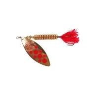 Блесна вращающаяся NORSTREAM Lonking Fly № 0 3,5 г цв. gold red dots / red tail