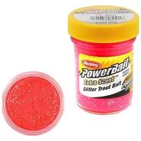 Паста BERKLEY PowerBait Extra Scent Glitter TroutBait  цв. Флюоресцентный красный