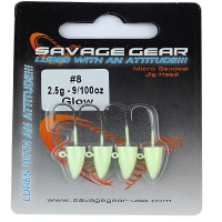 Джигер SAVAGE GEAR LRF Micro Sandeel Jig Head 3 г № 8 (4 шт.)