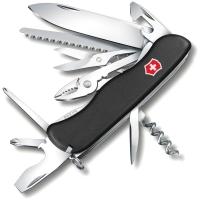 Нож VICTORINOX Hercules р. 111 мм, 18 функций, цв. черный, карт. коробка