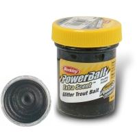 Паста форелевая BERKLEY PowerBait Extra Scent Glitter TroutBait цв. черный жемчужный