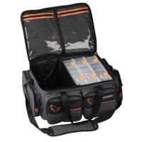 Набор SAVAGE GEAR коробки System Box Bag XL 3 Boxes + сумка Waterproof cover (25 x 67 x 46 см)