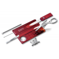 Швейцарская карточка VICTORINOX SwissCard Lite цв. красный полупрозрачный, блистер