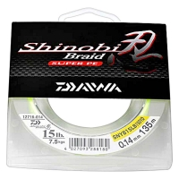 Леска DAIWA Shinobi Braid 10lb 0,12mm 135m (ярко-желтая)
