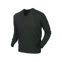 Пуловер HARKILA Glenmore pullover цвет Forest Green