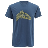 Футболка SIMMS Woodblock Trout SS T-S цвет Navy