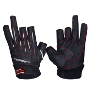 Перчатки TSURIBITO LFG-110 цв. Черный/ белый (3 открытых пальца)