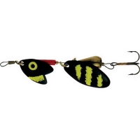 Блесна вращающаяся MEPPS Tandem Trout № 0 цв. Black / Yellow / Black