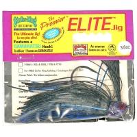 Бактейл STRIKE KING Premier Elite Jig 10,5 г (3/8 oz) цв. black / blue /purple flash