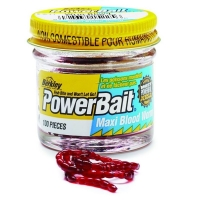 Мотыль BERKLEY PowerBait Maxi Blood Worm крупный (100 шт.)