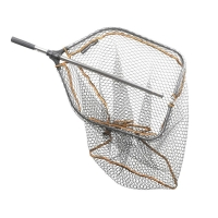 Подсачек SAVAGE GEAR Pro Tele Folding Rubber Large Mesh Landing Net р. L (65 x 50 см)