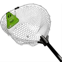Подсачек TSURIBITO NET TRAP Fold c прозрачной сеткой, складной, длина 150 см, диаметр 46 см