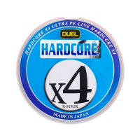 Плетенка DUEL PE Hardcore X4 200 м 5Color #0,5 (0,121 мм) 4,1 кг