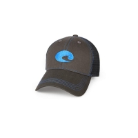Бейсболка COSTA DEL MAR Neon Trucker Graphite цв. Neon Blue