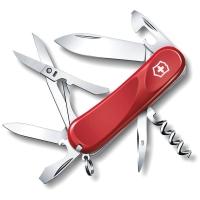 Нож VICTORINOX Evolution S14 р. 85 мм, 14 функций, с фиксатором лезвия, цв. красный