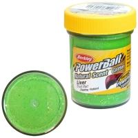 Паста BERKLEY PowerBait Natural Scent Glitter TroutBait аттр. Печень цв. Весенний зеленый