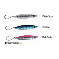 Пилькер SAVAGE GEAR LRF Psycho Sprat (3 шт.) цв. Sardine, White Glow, Pink Flash