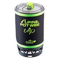 Система приготовления пищи KOVEA Alpine Pot Wide (535 гр, пьезоподжиг, 1,5 л)