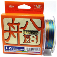 Плетенка YGK Veragass X8 0.6 PE 150 м 14 lb