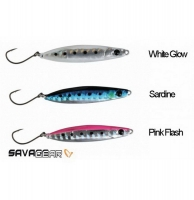 Пилькер SAVAGE GEAR Psycho Sprat 10 г цв. Sardine, White Glow, Pink Flas