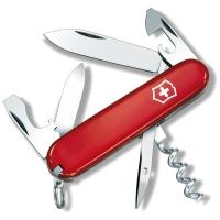 Нож VICTORINOX Tourist р. 84 мм, 12 функций, цв. красный, карт. коробка