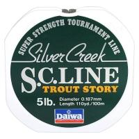 Леска DAIWA Silver Creek S.C. LINE TROUT STORY 5LB-100 / 0,187 мм 100 м