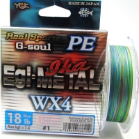 Плетенка YGK Real Sports G-Soul Egi Metal WX4 150 м цв. Многоцветный # 0,6