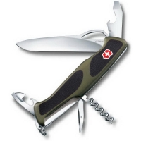 Нож VICTORINOX RangerGrip 61  р. 130 мм 11 функций цв. зеленый / черный, карт.коробка