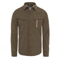 Сорочка THE NORTH FACE Long-Sleeve Sequoia Shirt мужская цвет New Taupe Green