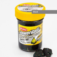 Паста BERKLEY Powerbait Natural Scent Glitter Troutbait 50 г аттр. чеснок цв. чёрный
