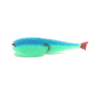 Поролоновая рыбка LEX Classic Fish CD UV 7 GBBLB (зеленое тело / синяя спина / красный хвост)
