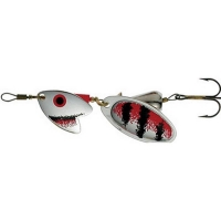 Блесна вращающаяся MEPPS Tandem Trout № 0 цв. Silver / Red / Black