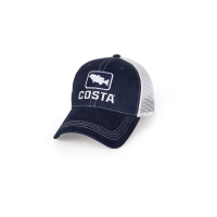 Бейсболка COSTA DEL MAR Bass Trucker Hat цв. Navy / White