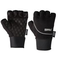 Перчатки RAPALA Stretch Half Finger цвет черный