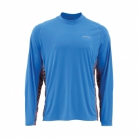 Футболка SIMMS Solarflex Crewneck D цвет Trout Harbour Blue
