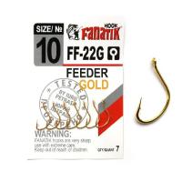 Крючок одинарный FANATIK FF-22 Feeder Gold № 10 (7 шт.)