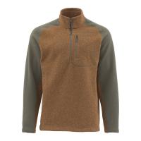 Пуловер SIMMS Rivershed Sweater Quarter Zip цвет Saddle Brown