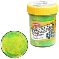Паста BERKLEY PowerBait Natural Scent Glitter TroutBait аттр. Пелец цв. Флюоресцентный зелено-желтый