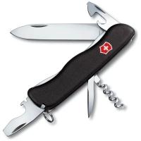 Нож VICTORINOX Nomad р. 111 мм, 11 функций, с фиксатором лезвия, цв. чёрный