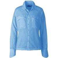 Рубашка женская CLOUDVEIL Clc Cl LS St цвет Bluebird