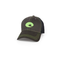 Бейсболка COSTA DEL MAR Neon Trucker Graphite цв. Neon Green