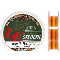 Леска SUNLINE Troutist Area LE Stealth 100 м цв. ярко-оранжевый / прозрачный 0,104 мм