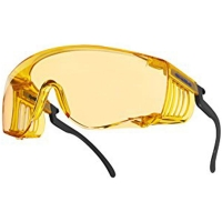 Очки открытые BOLLE SQUALE желтая линза (очки на очки)
