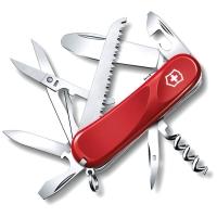 Нож VICTORINOX Junior 03 р. 85 мм, 15 функций, с фиксатором лезвия, цв. красный